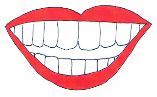 My drawing of a smiling mouth showing lots of teeth