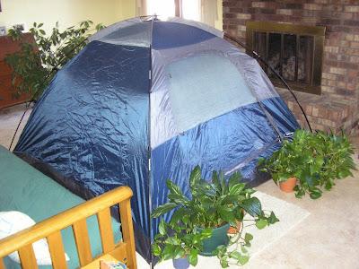 indoor tent camping