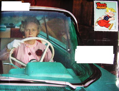 Scary 50's Lady Driving Mail Art