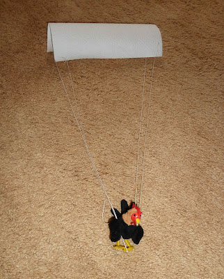 Finger Puppet Goes Parachuting