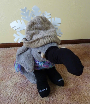 Elephant dressed in Wintertime Bling