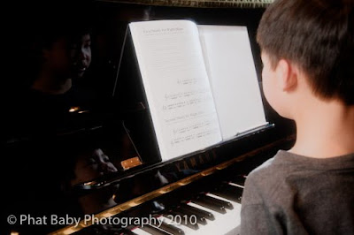 Baby Photography Piano Reflection