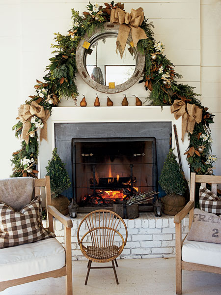 Loft Cottage Dressing Up A Fireplace For Christmas
