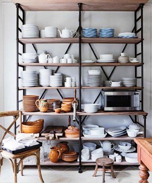 Open Kitchen Storage: Loft & Cottage: More Open Kitchen Storage