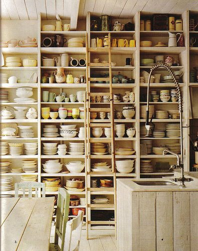loft & cottage: more open kitchen storage