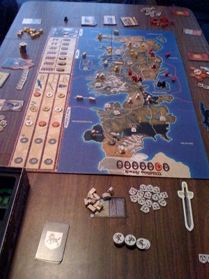 Game of Thrones board game mid play