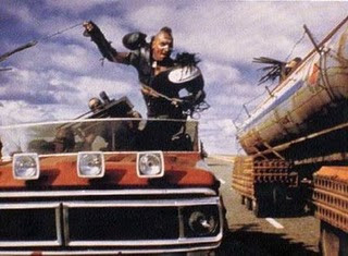 Mad Max car chase scene