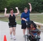Dina and I finishing the H&H 5K