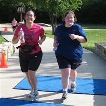 Jenn and I finishing the H&H 15K