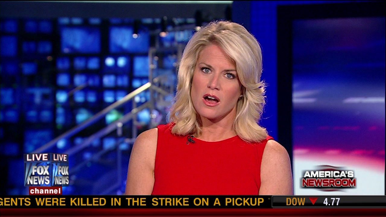 sexy Martha MacCallum in red