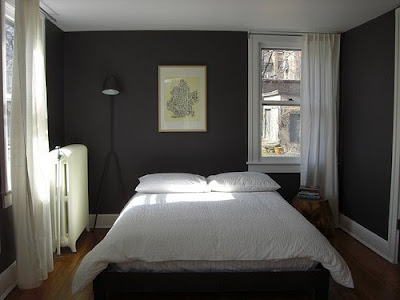 At home at home new house inspiration - Black painted bedroom walls ...