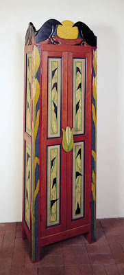 cabinet with ravens