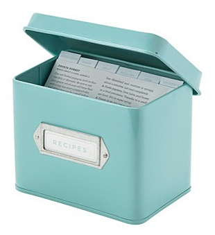 Martha Stewart blue recipe box