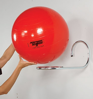 loop wall rack for single exercise ball