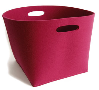 pink felt box
