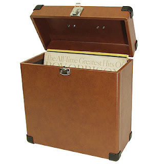 tan record carrier case