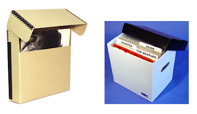 two types of record storage boxes