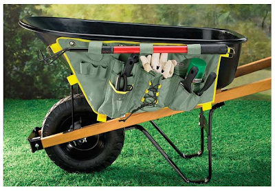 wheelbarrow caddy - on side of wheelbarrow, for holding tools