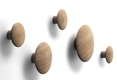 wood dots - hooks for coats