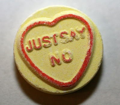 candy that says Just Say No