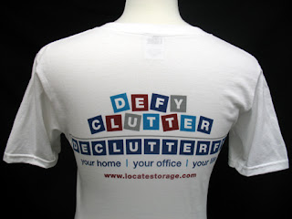 t-shirt that says Defy Clutter