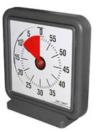 Time Timer - visual representation of time - red wedge