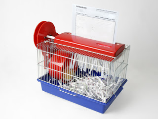 hamster-powered shredder