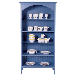 Maine Cottage - blue bookshelf