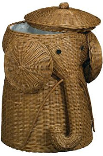 rattan elephant clothes hamper