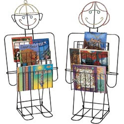 book holders shaped like a boy and a girl