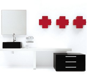 medicine cabinet, cross shape