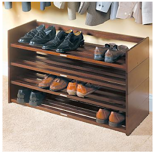 stackable mahogany shoe rack shelves