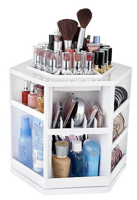 tabletop rotating cosmetic organizer