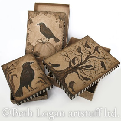 nesting boxes with crows
