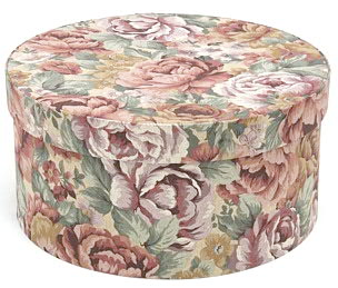 hat box, floral