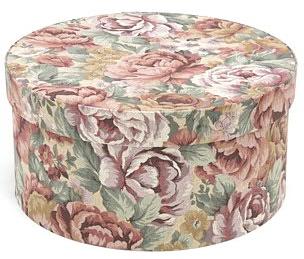 hat box, floral