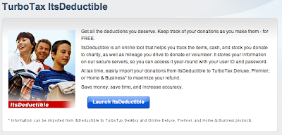 web page for ItsDeductible