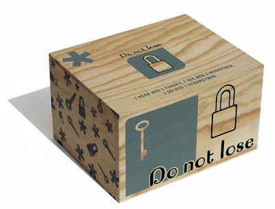 wooden box, says Do Not Lose