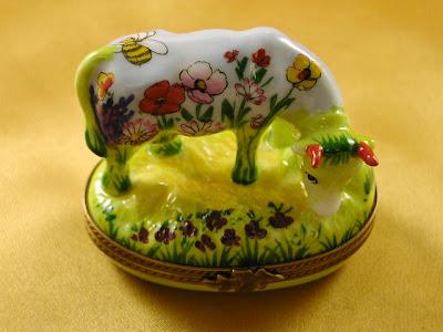 Limoges cow trinket box