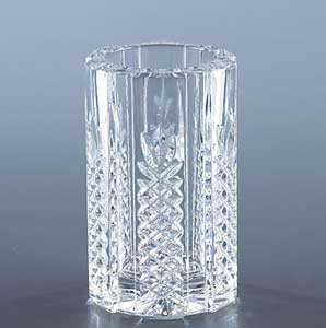 cut crystal pen holder