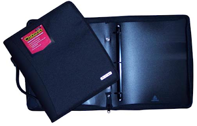 zippered 3-ring binder with handle