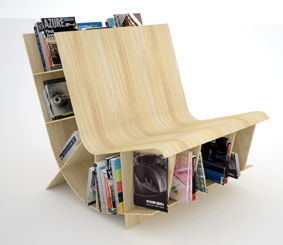 chair with built in book storage