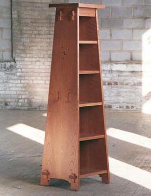 pedestal bookcase