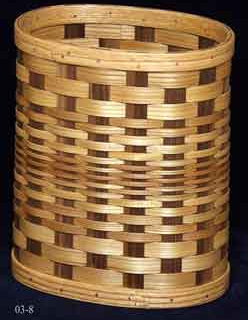 woven wood wastebasket