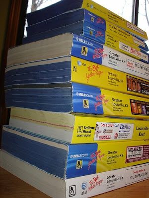 stack of phone books
