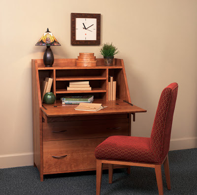 secretary desk, open