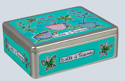 metal box for tisane