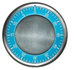 blue round magnetic timer