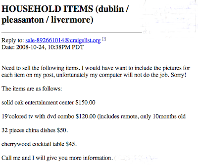 craigslist ad