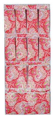 paisley over door shoe tidy